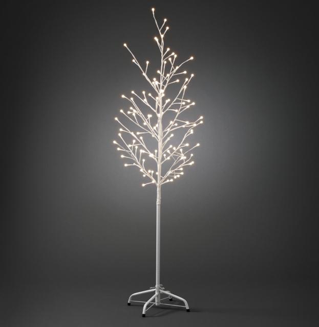 viano n dekor cia vonkaj ia strom ve k biely 120 tepl biele led guli ky 150cm viano n. Black Bedroom Furniture Sets. Home Design Ideas
